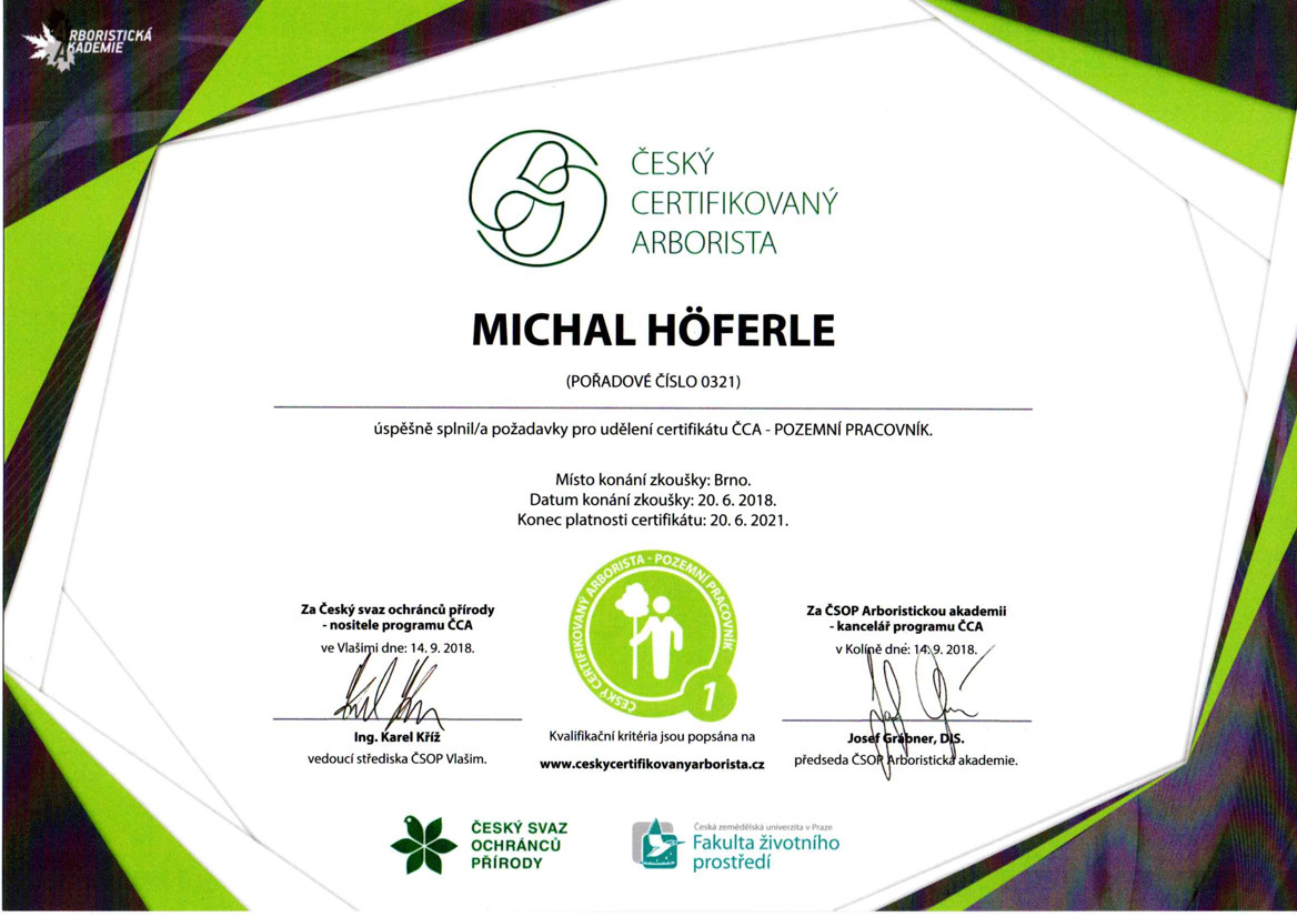 certifikace_Michal
